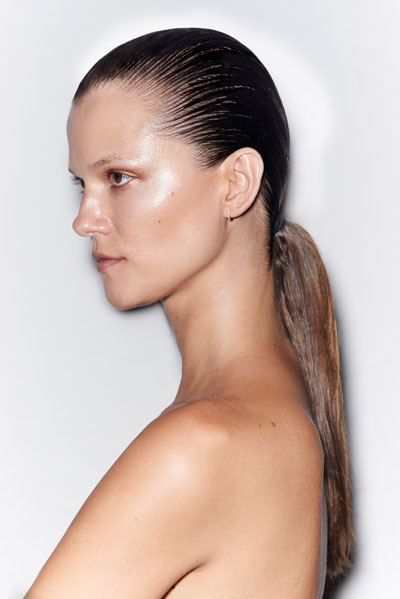 wet-looking-ponytails-by-Redken-at-Alexander-Wang-ss15