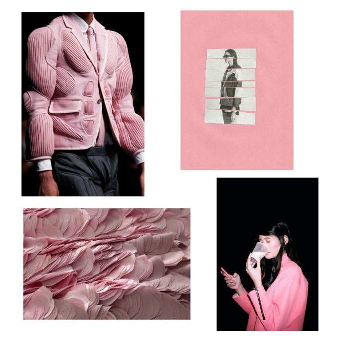 old pink collage